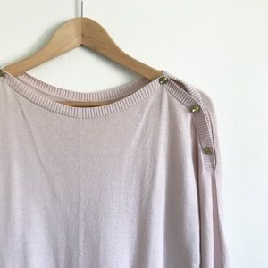GAP Lavender Knit Sweater with Shoulder Buttons